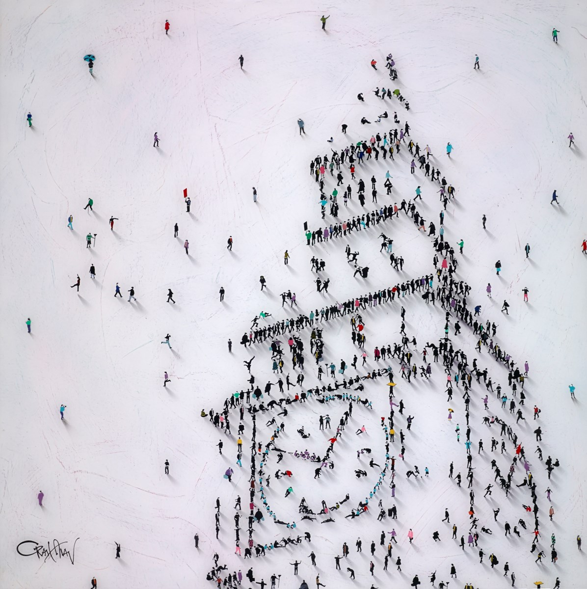 Big Ben London by craig alan -  sized 40x40 inches. Available from Whitewall Galleries